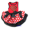Valentine's Day Red Polka Dots Heart Party Dress Cat Pet Small Dog Clothes XS-L