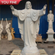 Carved Garden Religious Natural White Marble Jesus Statues For Sale