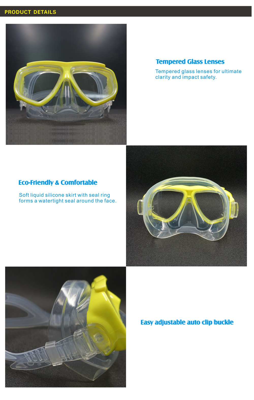 Sales promotion Cheap easy breath Anti-Fogging Swimming scuba diving mask suit