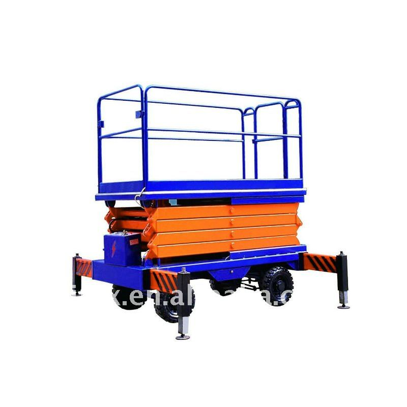 Height 7.7M !!! Manual hydraulic scissor lift / work platform for sale