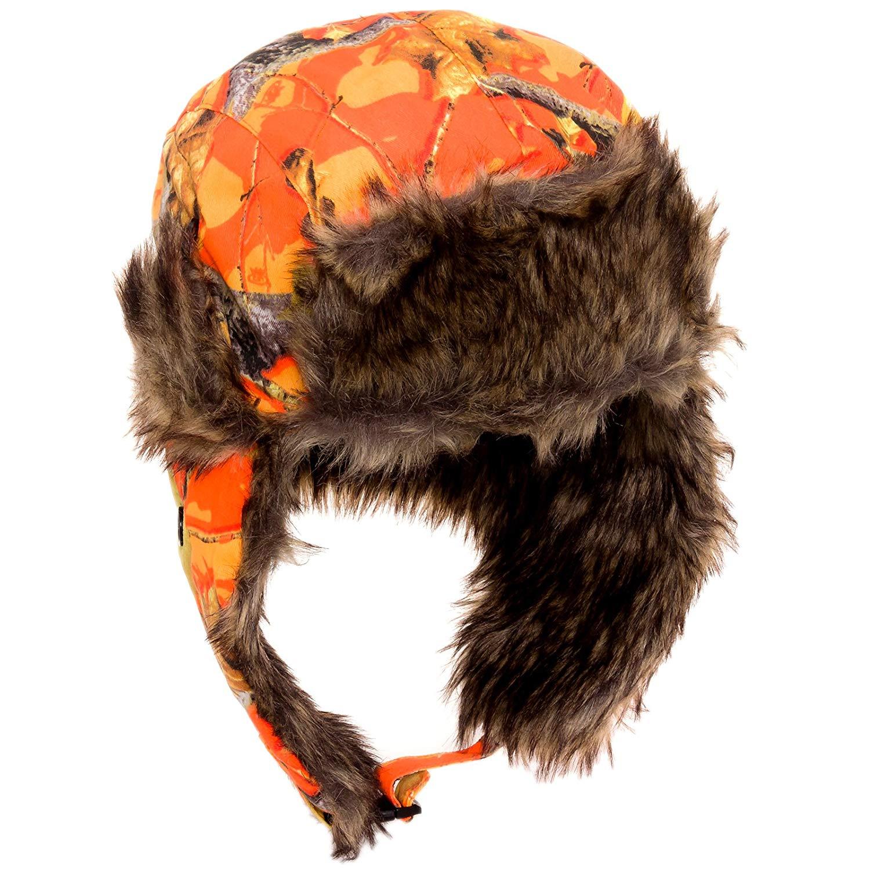 d7e60ff802b Get Quotations · Dakota Dan Trooper Ear Flap Cap w  Faux Fur Lining Hat