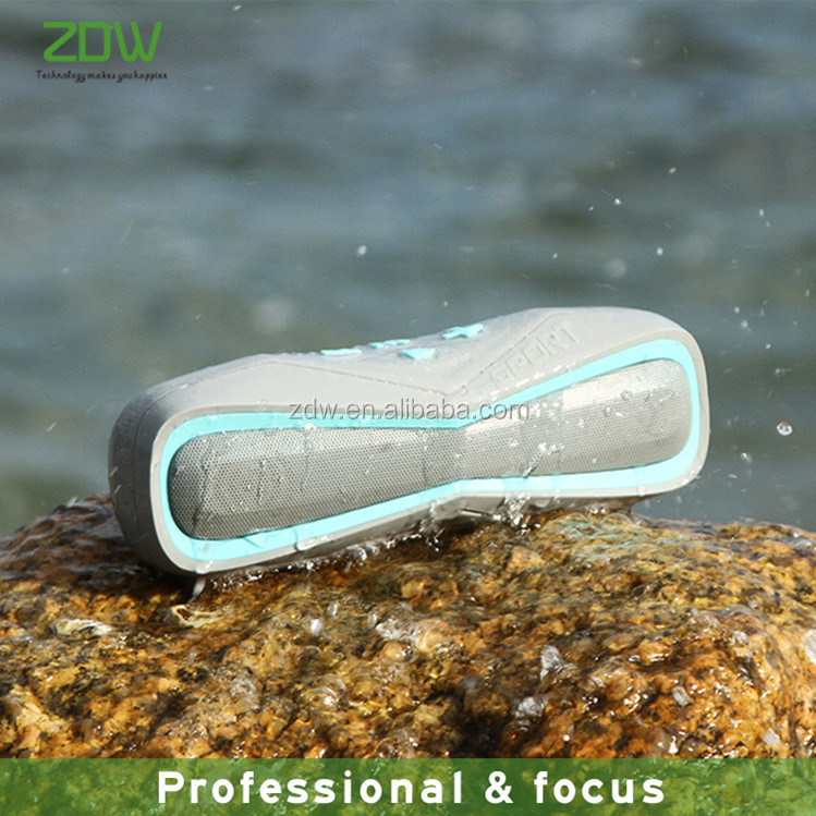 ZDW sports bluetooth speaker sound 3D stereo music surround IPX7 waterproof portable wireless loudspeaker for climbing