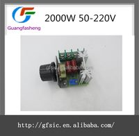 2000W 50-220V AC SCR Electronic Voltage Regulator Speed Control Controller With Fast Melt Insurance