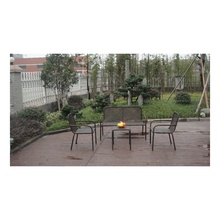4PCS Wrought Iron With Rattan Oudoor Garden Furniture Sofa Set
