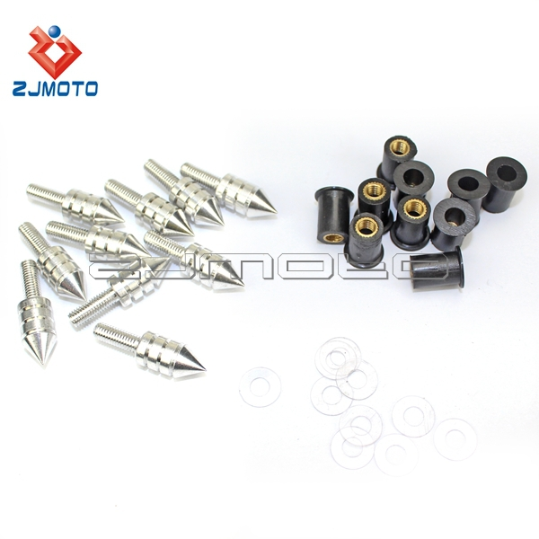 Street Bike Windscreen Bolt Kits Streetighter Wind Screen Nut Washer Screw