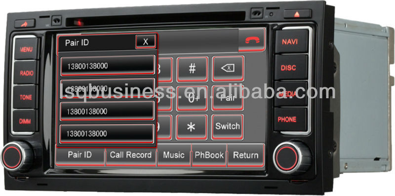 ans710 autoradio lettore dvd per volkswagen touareg vw. Black Bedroom Furniture Sets. Home Design Ideas