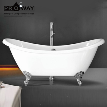White Free Standing Clear Acrylic Corner Clawfoot Bathroom Bath Tub Bathtub