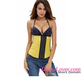 de07690670 Women Shaper 2017 Newly Wholesale Sexy Yellow Sleek Latex Waist Corset