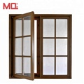 french aluminum casement storm window with grill design