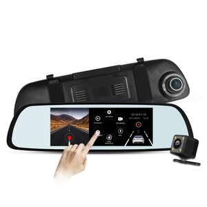Economic and Reliable 6.86 inch screen rearview mirror 1080p car dvr built in G-sensor ADAS
