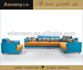 Home new modern bright-colored sofa set A313
