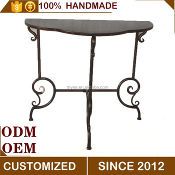 Myee Simple Iron Home Furniture Corner Table And Chairs