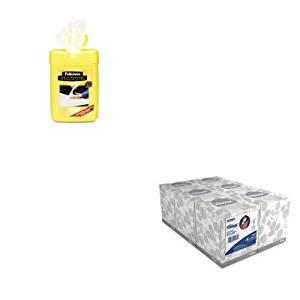 KITFEL99705KIM21271 - Value Kit - Fellowes Multipurpose Cleaning Wet Wipes (FEL99705) and KIMBERLY CLARK KLEENEX White Facial Tissue (KIM21271)