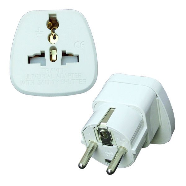 16A Europe Adapter Plug with Safety Shutter