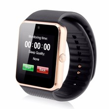 mobile watch gt08 u8 with fee ce rohs, sim smart cell phone watch ios and android