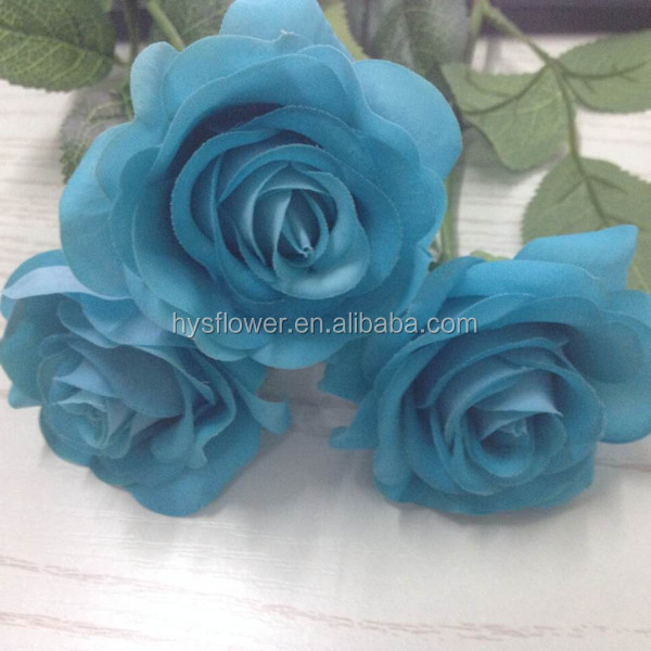 Artificial Blue Flowers Real Touch Small Roses Fake