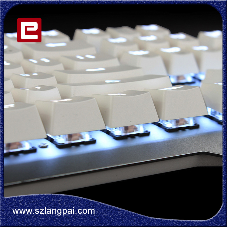 Universal Portable backlight colors usb wired gaming led keyboard WIth Aluminum Alloy Pannel