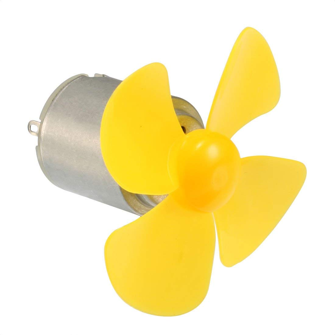 uxcell 1Set DC3v 0.18A 8000RPM+/-10% Motor with 60mm Dia 4 Vanes Yellow Propeller