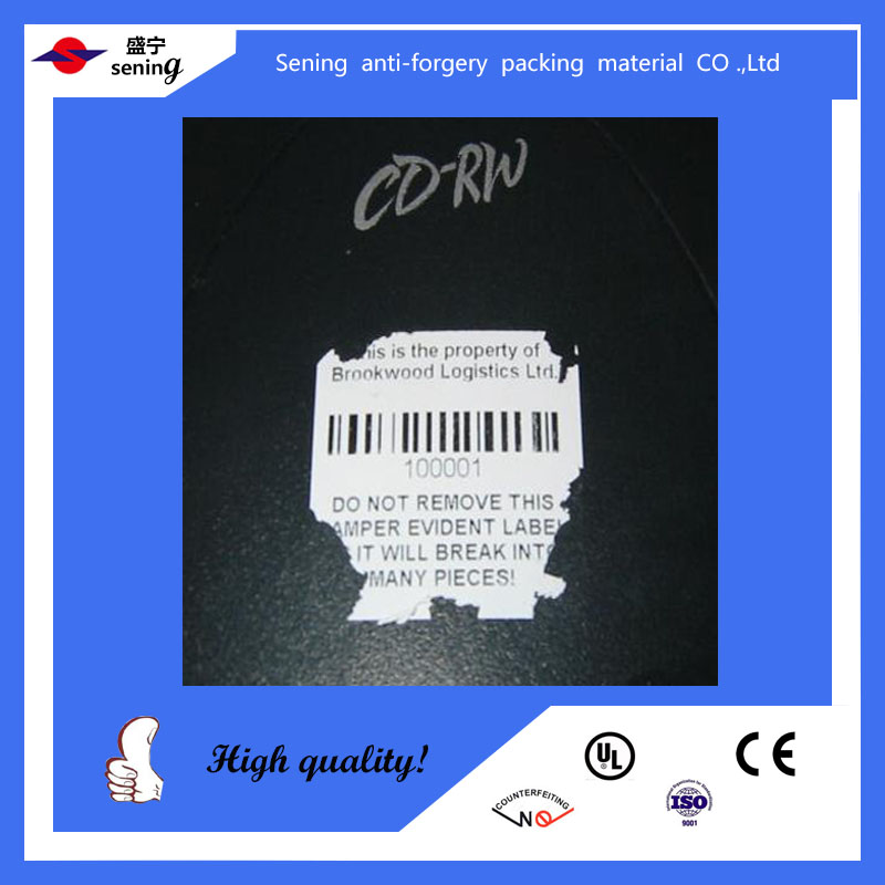 custom warranty egg shell destructive vinyl stickers/labels