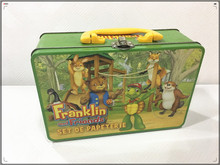 best selling metal tin lunch box gum cool vintage new carrier worksman manufactured in China