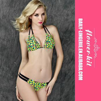 9a6179c1021 Lady summer 2016 plus size hot girl print leopard bikini hot beach bikini  swimsuit
