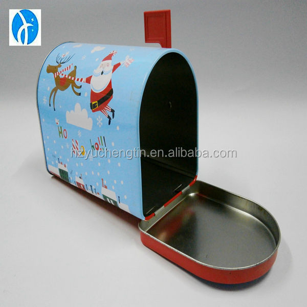 chirstmas Tintop tin mail post for candy/mints/chocolate