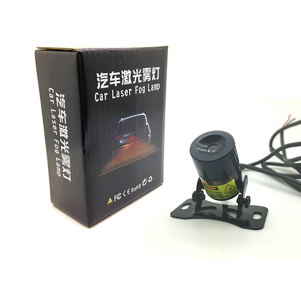 get quotations · leadtops 1set straight line anti collision car laser tail  fog light auto reverse light parking light