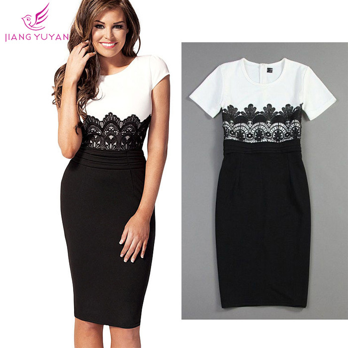 Vestidos Fashion Casual Dress Women Office Ladies Sheath ...