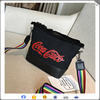High quality hot sale PU and canvas spliced tote bag,handbag