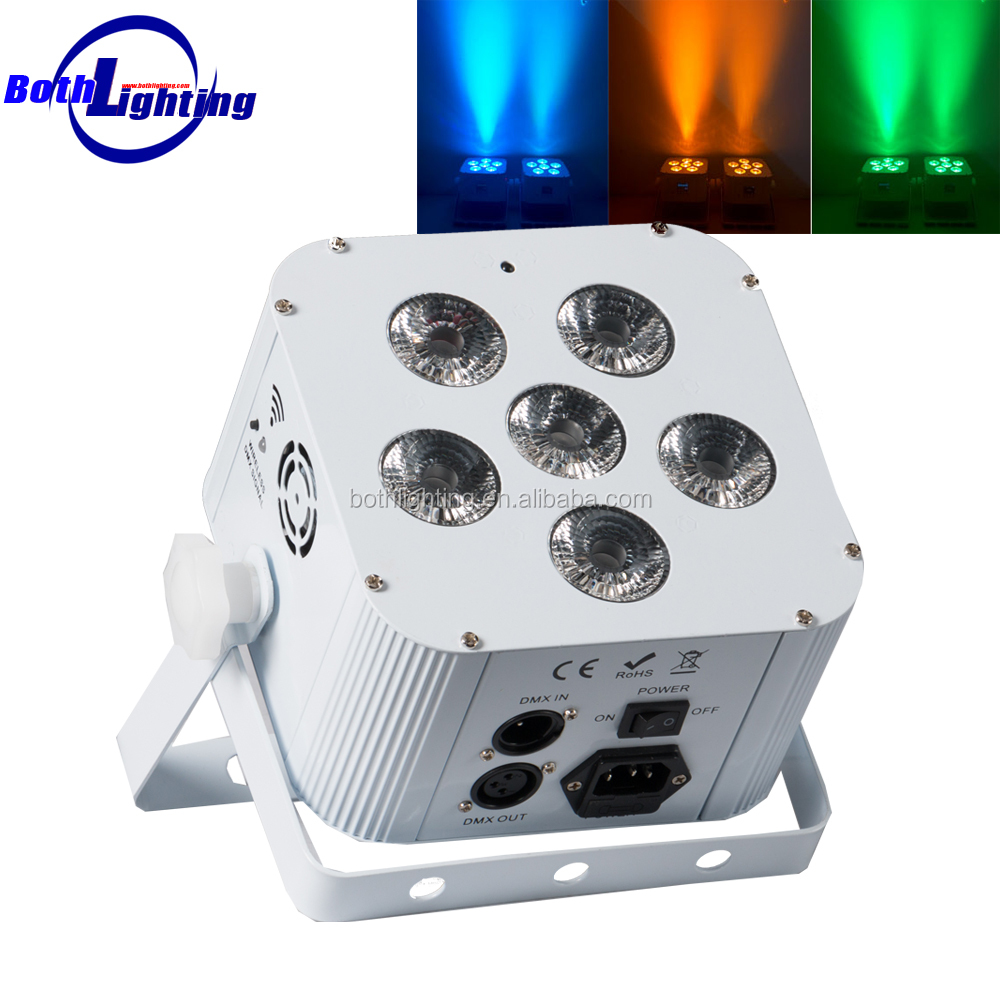 battery operated light fixtures remote & wifi control led uplight 6X18w RGBWA UV wireless led par can