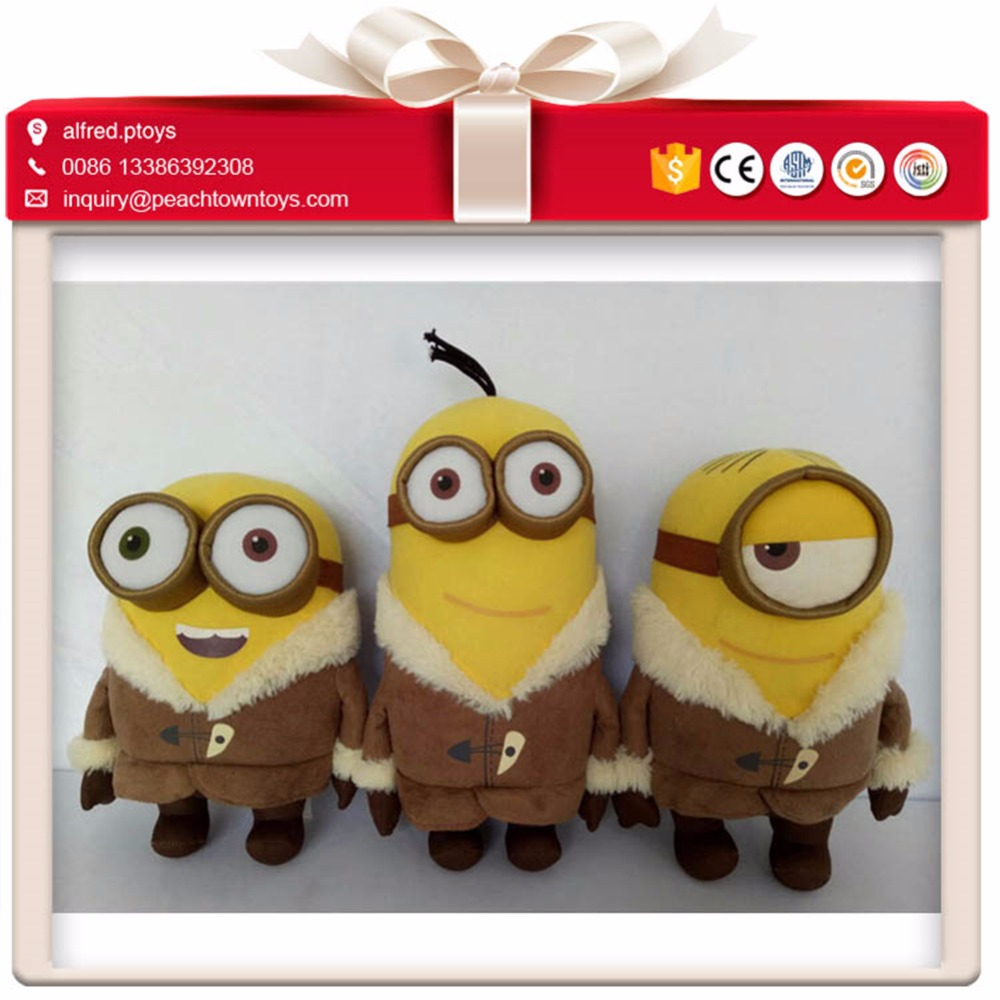 Festival beautiful dress new christmas minion plush toy