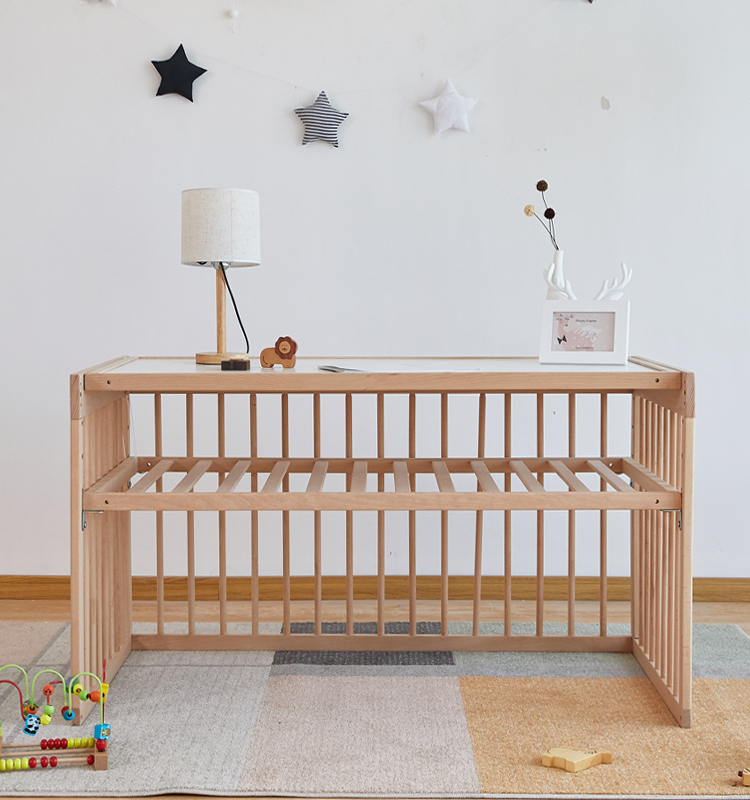 Mulit-functional Wooden Mode Changeable Baby Crib/Children Desk/Game Bed/Sofa