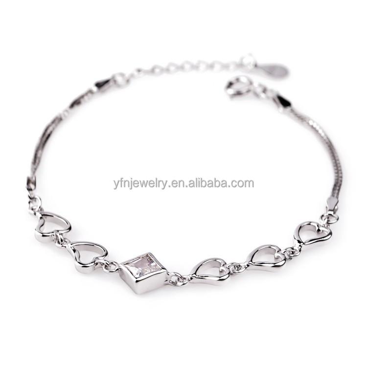 Simple Design Modern 925 Sterling Silver Bracelet For Teen Girls ...