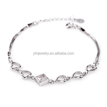 Simple Design Modern 925 Sterling Silver Bracelet For Teen Girls