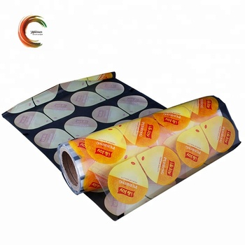Food grade laminated transparent plastic cup sealing roll film from china supplier