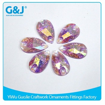 Guojie brand new arrival high quality flatback HV7#12 and factory direct sale resin stone