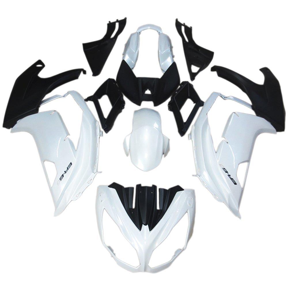 Sportfairings ABS Fairings For Kawasaki ER-6F Ninja 650R 12 13 14 15 Year 2012-2015 Pearl White Matte Black Cowlings Body Kits