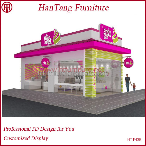 Shopping mall wooden cafe bar interior designs idea for sale