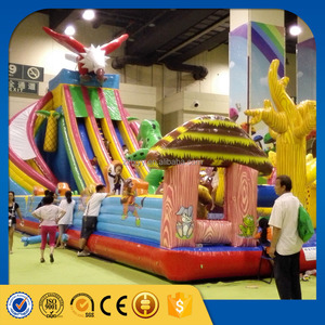 lixin factory kids game inflatable stair slide toys, inflatable castle slide, inflatable jumping castle for sale