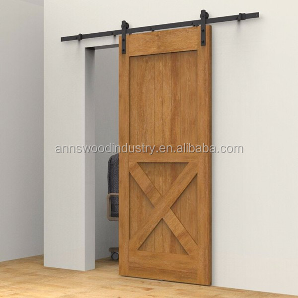 DIY Retro Style Soundproof Interior Sliding Barn Wood Doors For Bathrooms