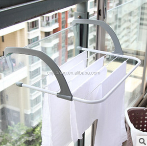 Wholesale Balcony folding towel drying rack / Balcony Bathroom Clothes Drying Rack / Outdoor Clothes Drying Rack