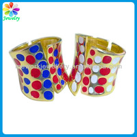 Gold Metallic Tone Enamel Created Dots Design Napkin Ring Gold Plated Cheap Napkin Rings