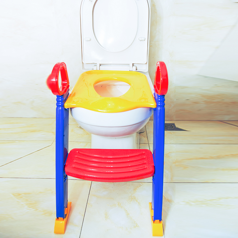 factory price plastic folding kids potty training seat with step