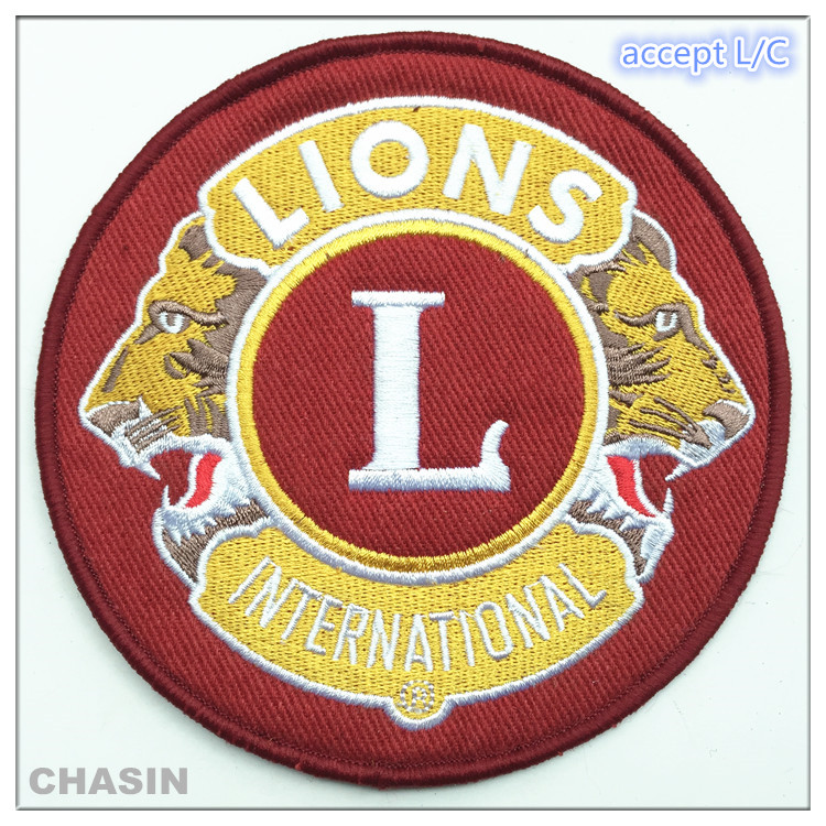 Cheap custom garment embroidery logo club souvenir adhesive patches