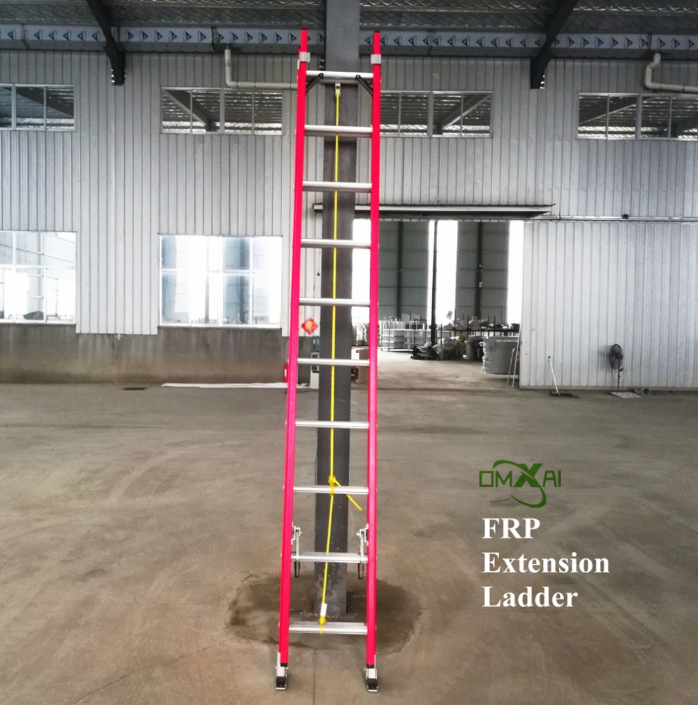 FRP / Fiberglass folding extension ladder fiber glass insulation with good quality low price factory supply