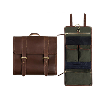 0dc1790c1d03 1CS0574 Waterproof Canvas Dopp Kit Travel Roll Up Wash Bag Leather Hanging  Toiletry Bag for Men