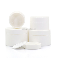 IBELONG hot sale 30g 50g 100g 120g cheap empty glossy white cosmetic plastic packaging jar for cream manufacturer