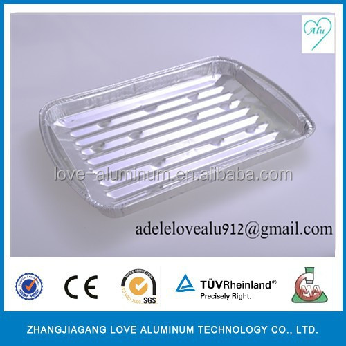 disposable aluminum foil grill one-time bbq grill kitchen usage BBQ