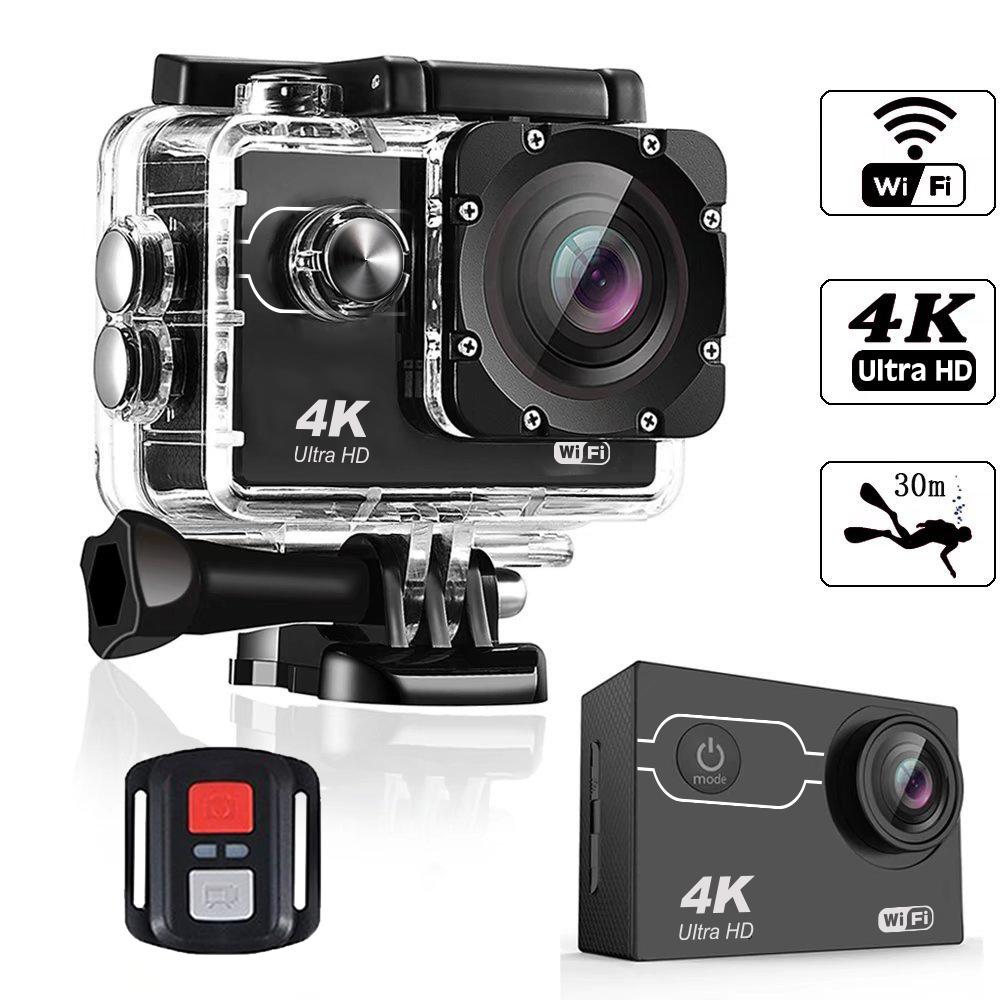2019 크리스마스 프로모션 4K wifi 방수 비디오 레코더 액션 스포츠 카메라 oem