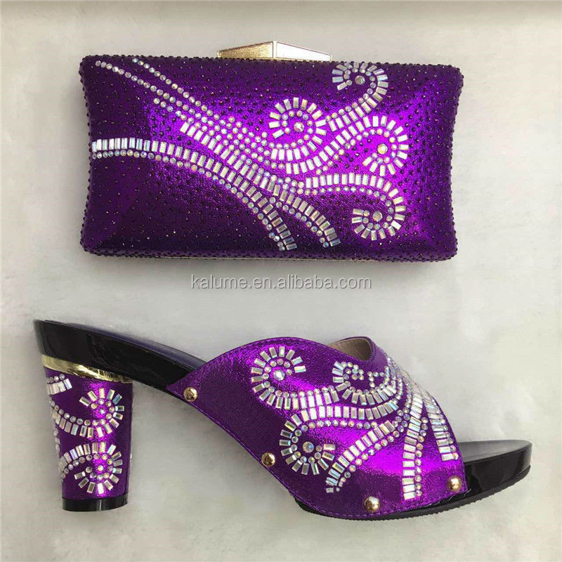 Wedding Bag Match Women Shoes Match To 36 Class Purple High With Italian Shoes And Shoes TT16 To And Bags Stones Latest Italian qBzZTf